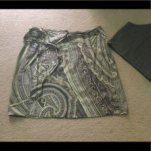 Ellen Tracy Silk Wrap Skirt Size 18